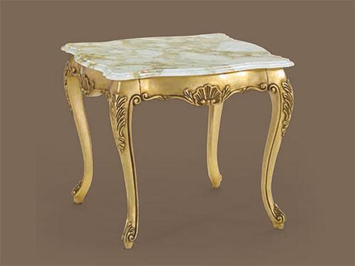Tavolini Da Salotto Classici In Foglia Oro.Art 875 M Scappini C